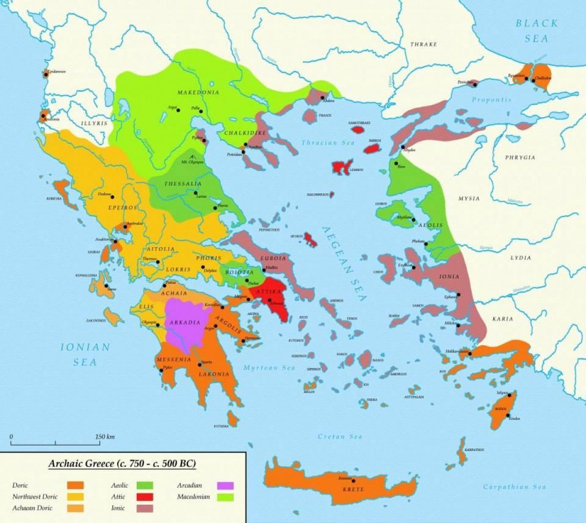 Ateny Starozytna Grecja Mapa Mapa Aten I Sparty W Starozytnej